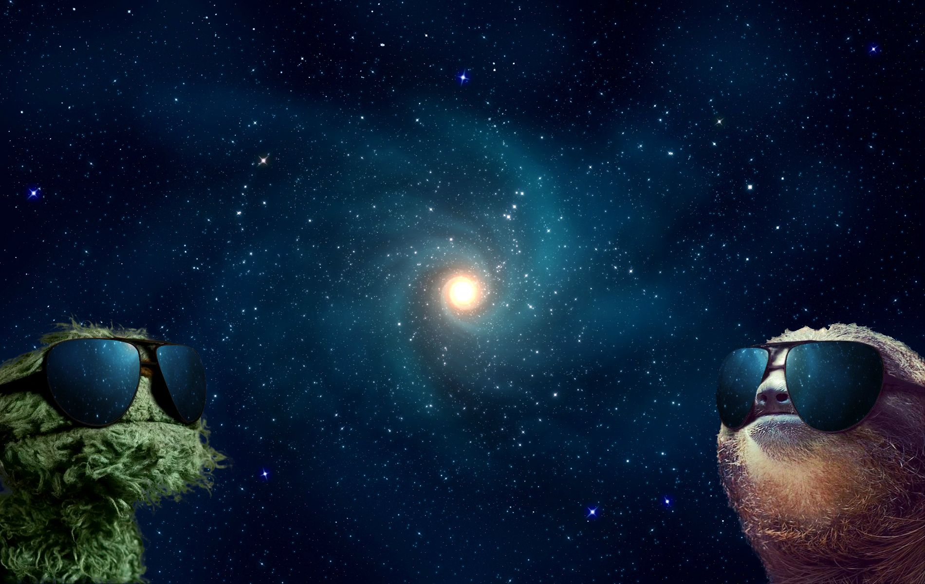 Sloth and Grover in Space HD Wallpaper Download HD Wallpaper 1900x1200