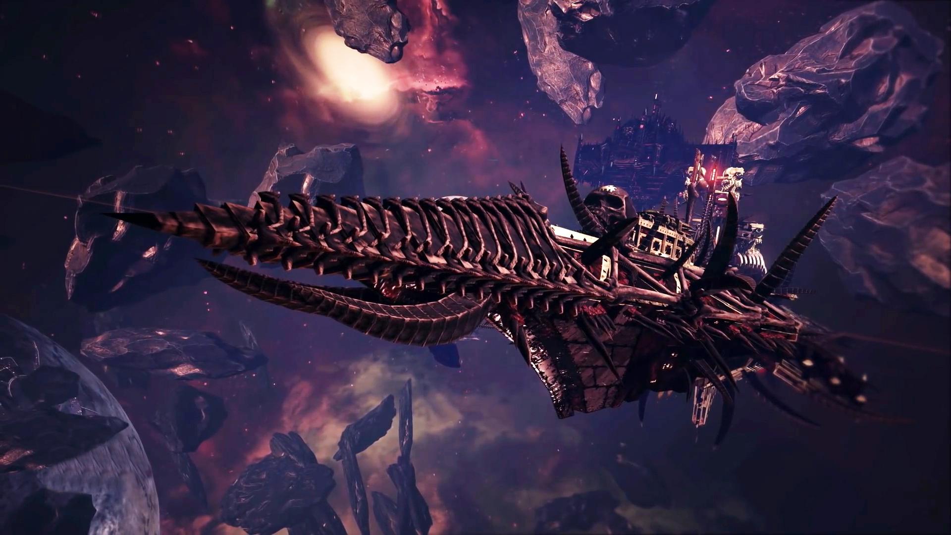Battlefleet Gothic Armada Chaos Battleship HD Wallpaper 1920x1080