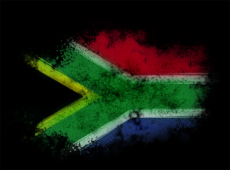 Free download South African Flag Grunged by Metatonix