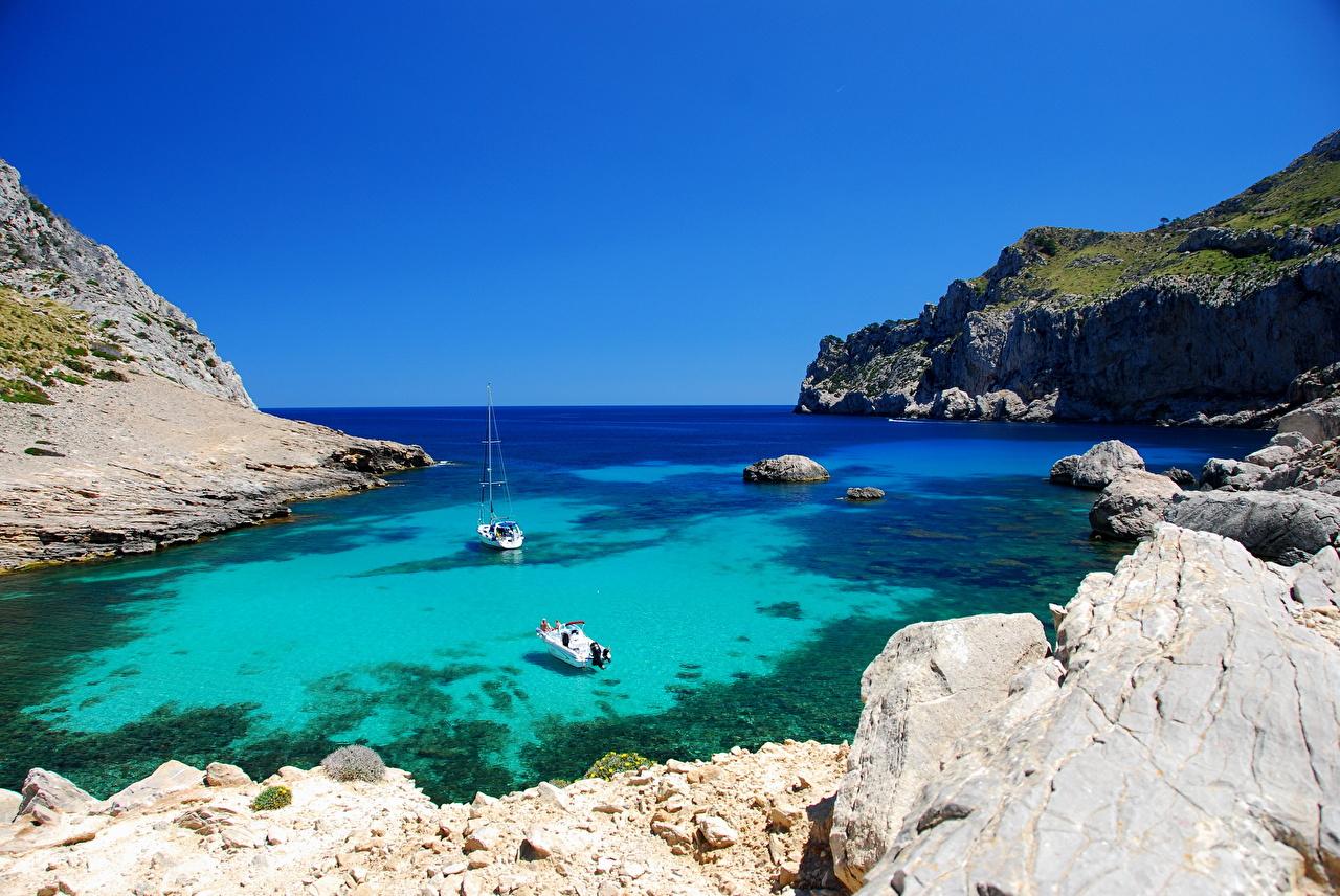 Images Majorca Mallorca Spain Sea Nature Cove Coast 1280x856