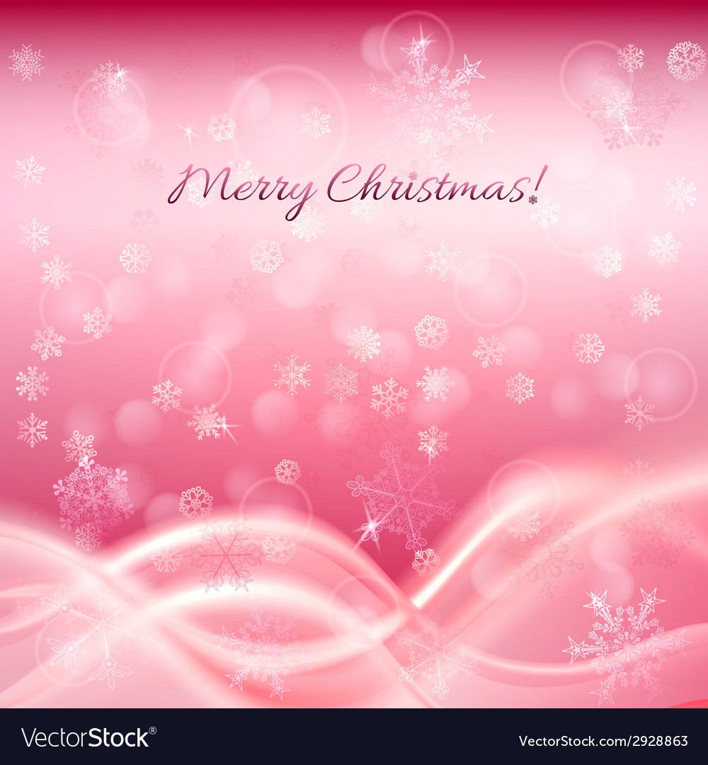 Pink christmas background Royalty Vector Image 1000x1080