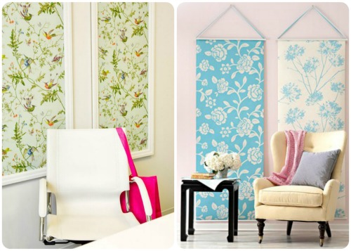 How To Decorate A Wall With Fabric Home Staging Accessories 2014 500x357