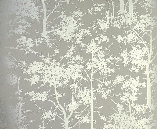 Silver Contemporary Wallpaper Mandara Wallpaper by Osborne Little 534x438
