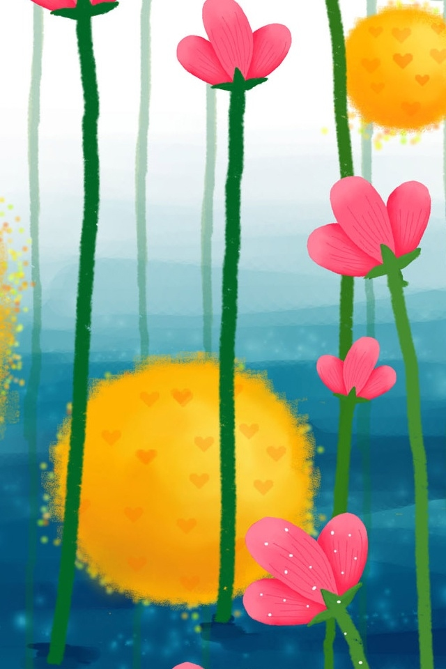 Cute Flowers Heart Iphone 4 Wallpapers 640x960 Hd Iphone 4 Retina 640x960