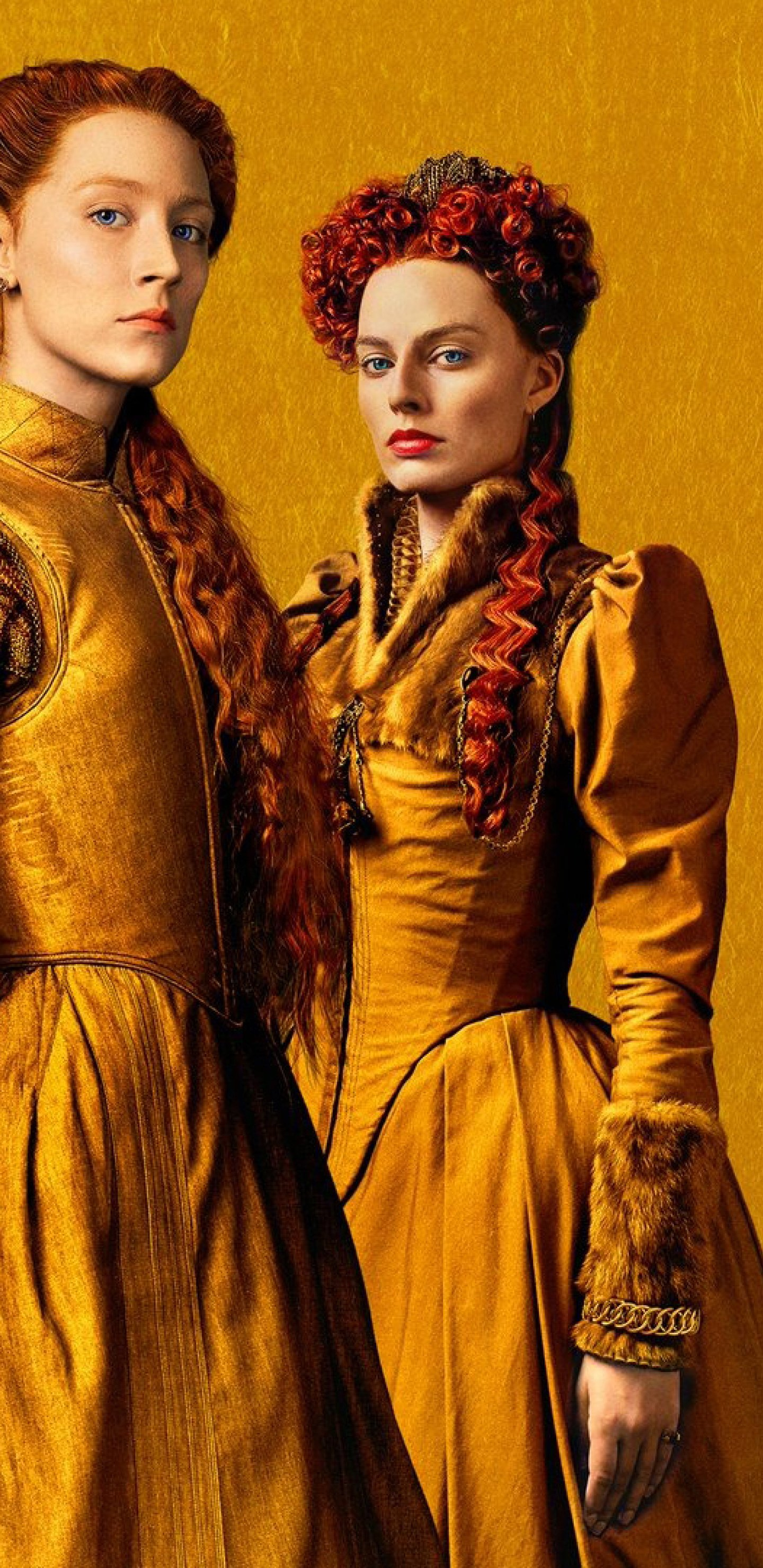 1440x2960 Margot Robbie and Saoirse Ronan in Mary Queen of Scots 1440x2960
