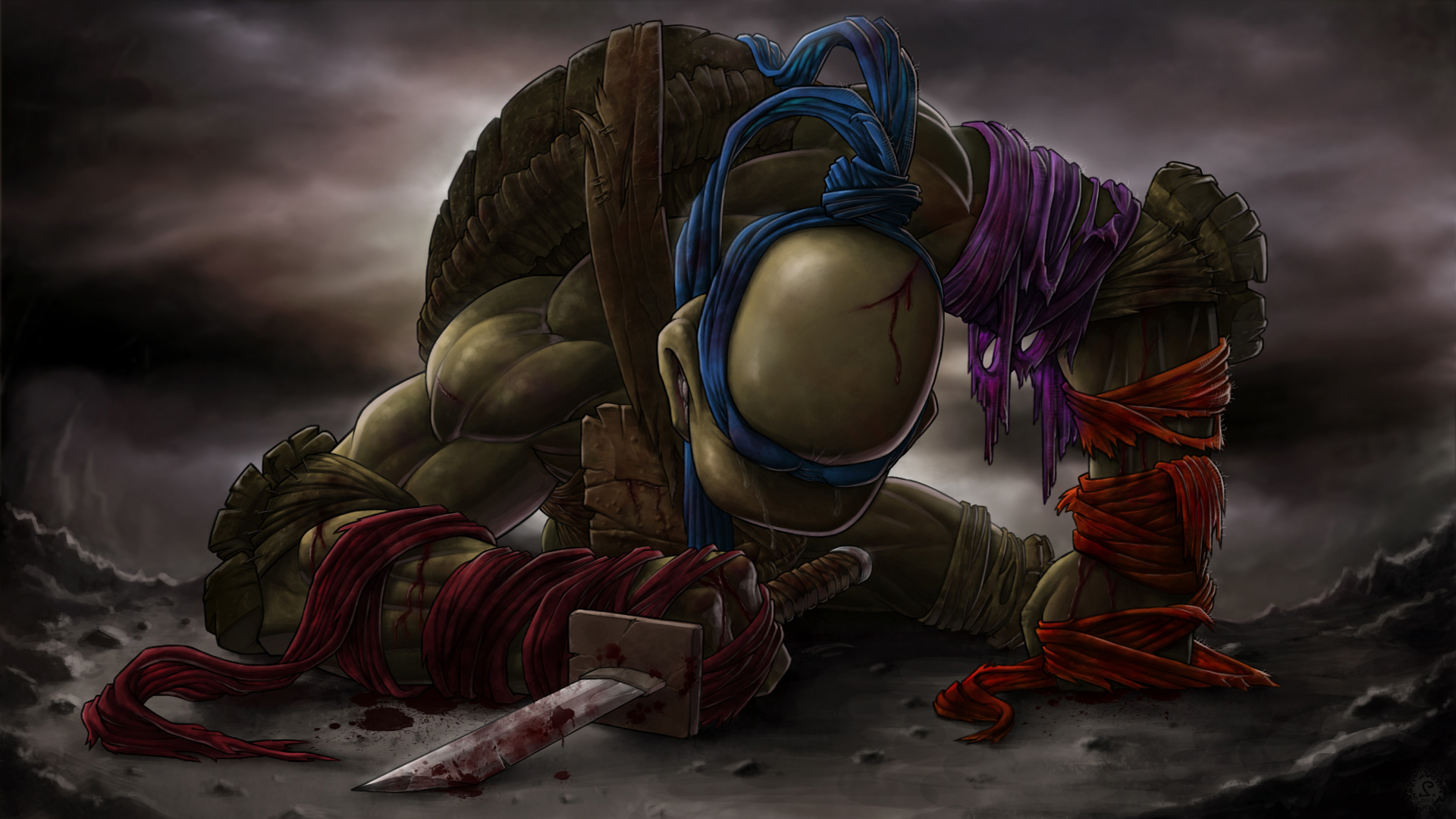 Leonardo TMNT Last Fight Exclusive HD Wallpapers 6619 1920x1080