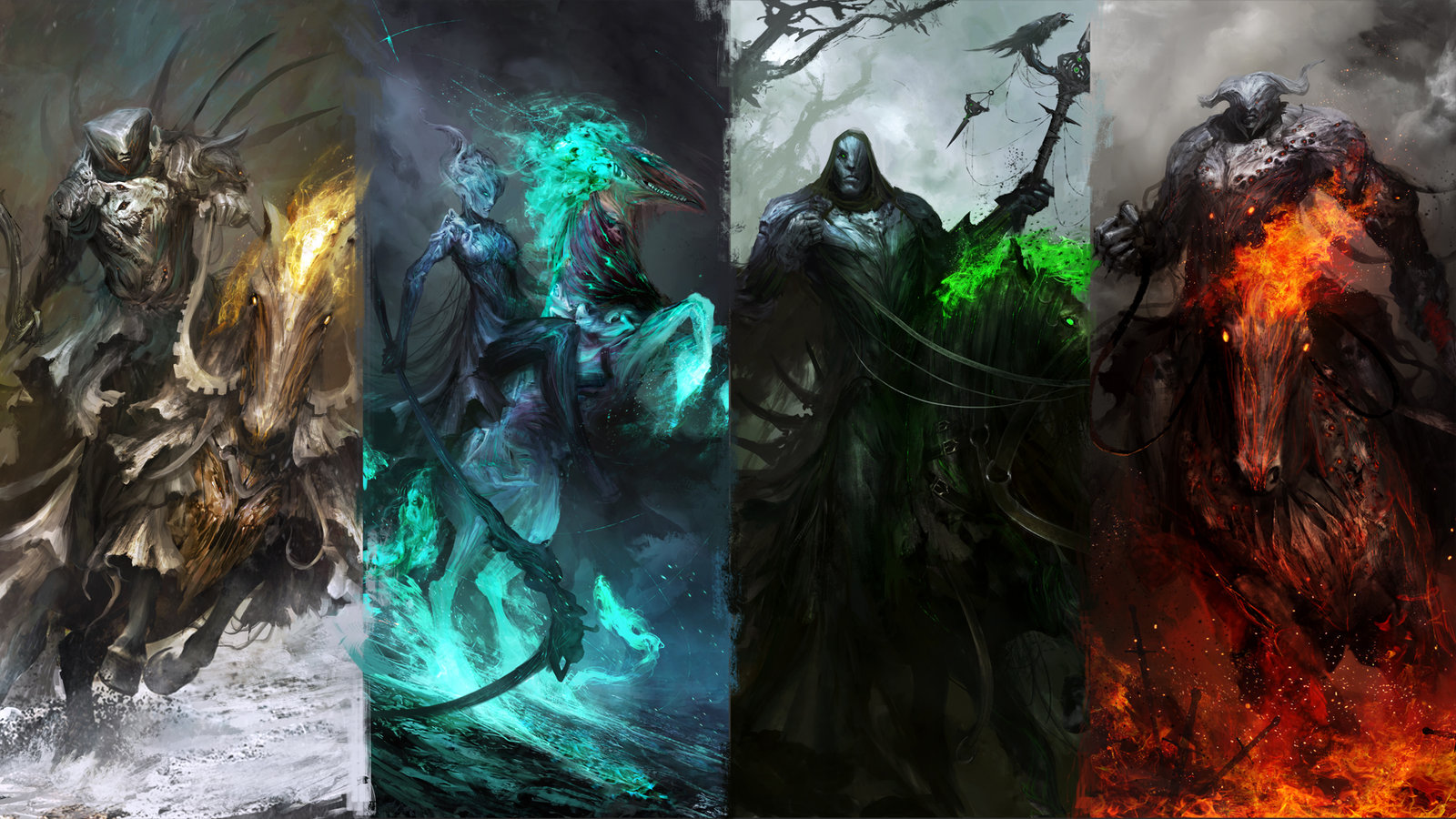 The 4 horsemen of the Apocalypse wallpapers 1600x900