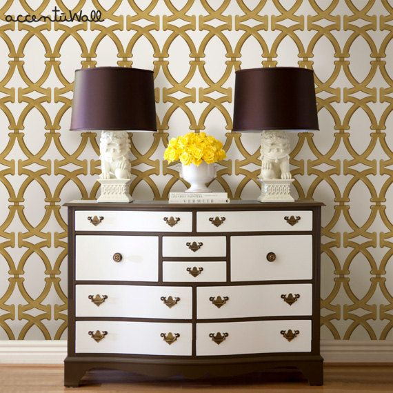 Links Gold Peel Stick Fabric Wallpaper by AccentuWall on Etsy 40 570x570
