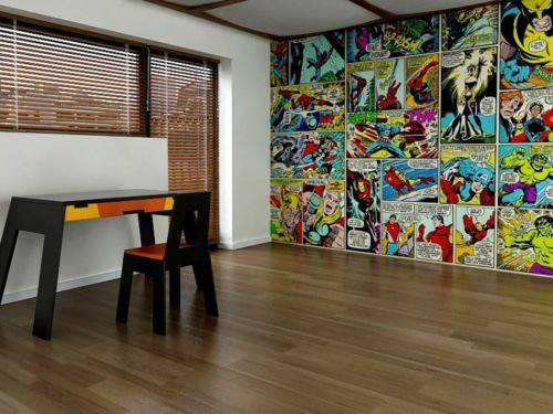 Dulux Marvel Avengers Bedroom In A Box Officially Awesome: Marvel Wallpaper Bedroom