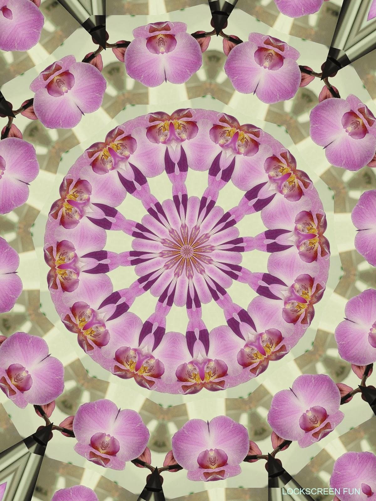 LockscreenFun Beautiful Orchid Mandala   iPad Mini Wallpaper 1200x1600