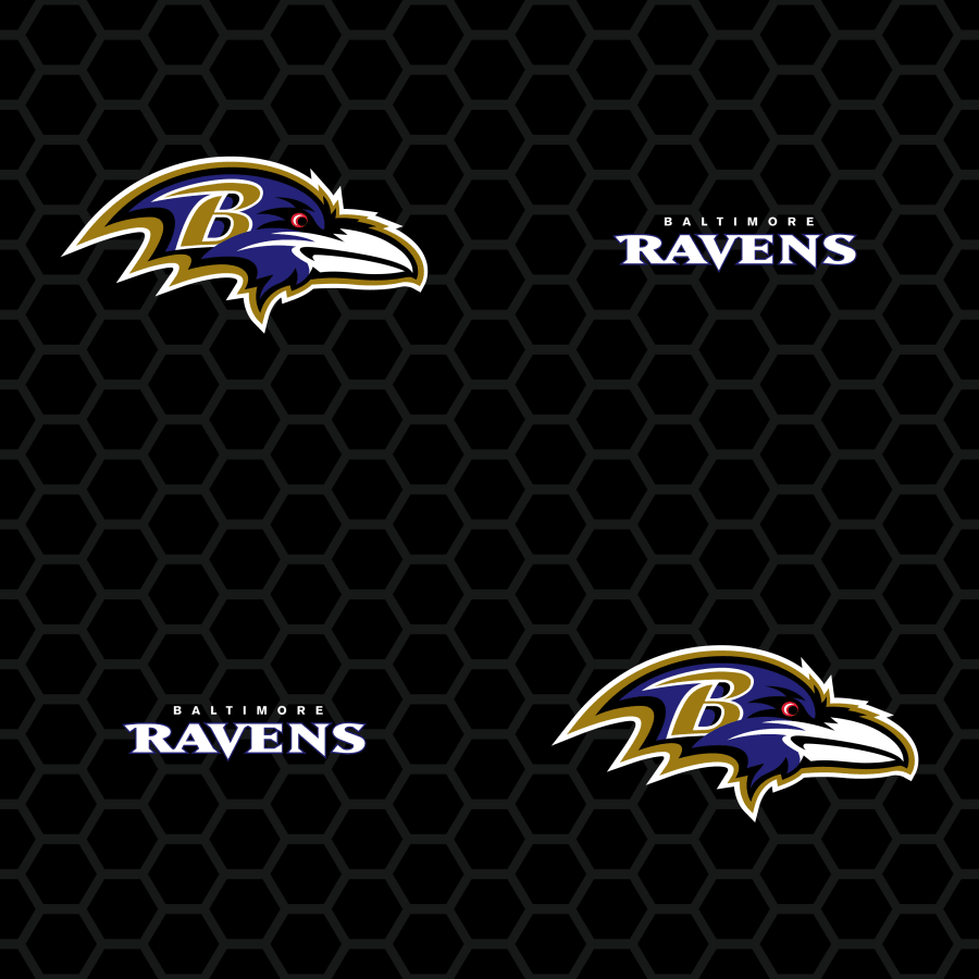 Baltimore Ravens Logo Pattern Black   Officially Licensed 900x900