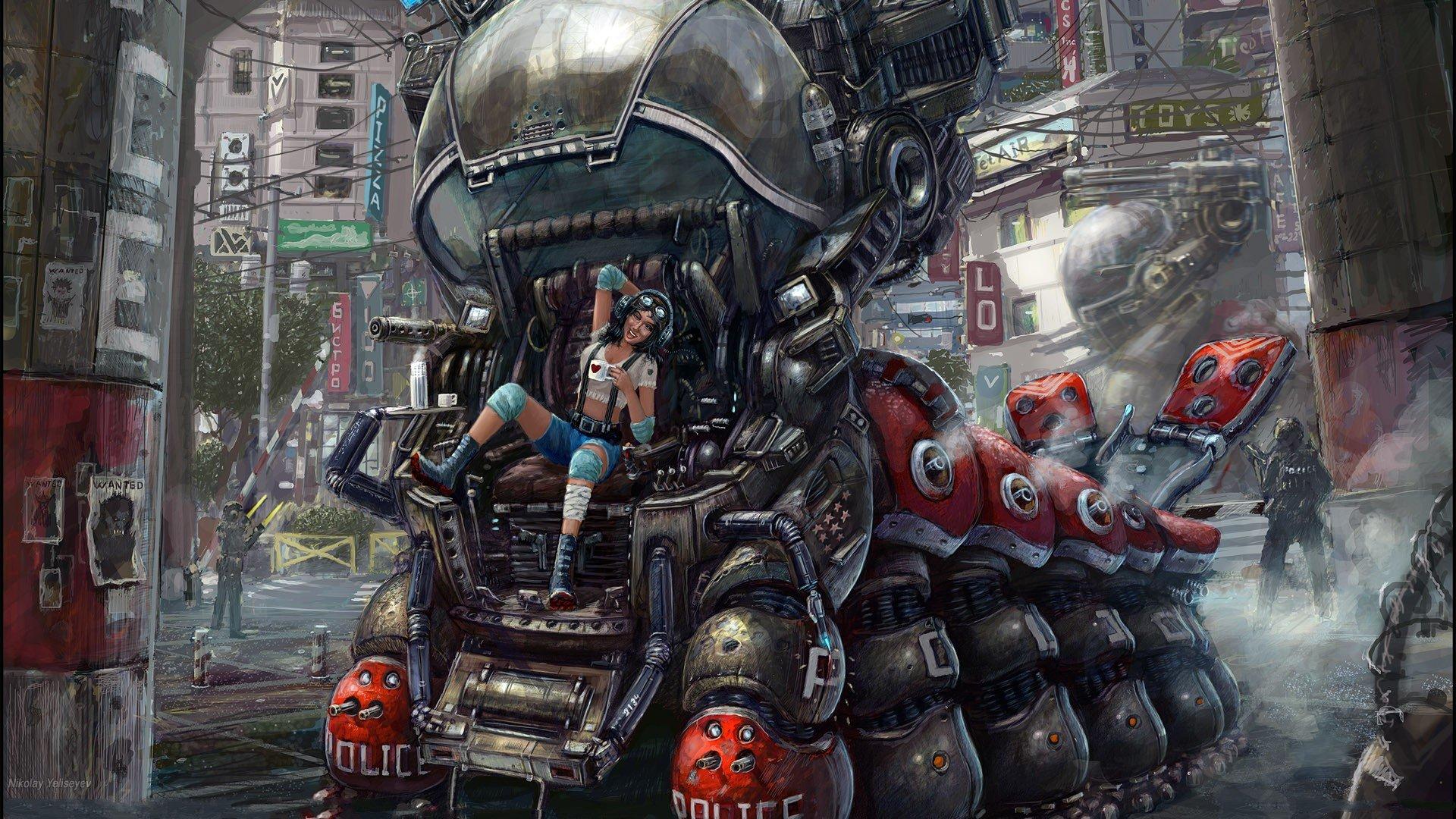 Download Cyberpunk Backgrounds 1920x1080
