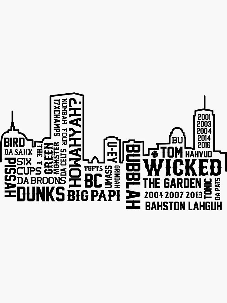Boston Slang Sticker With images Boston bruins wallpaper 750x1000
