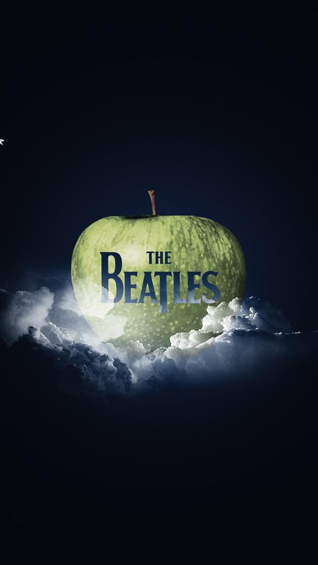 The Beatles Logo IPhone 5s Wallpaper Download Wallpapers 640x1136