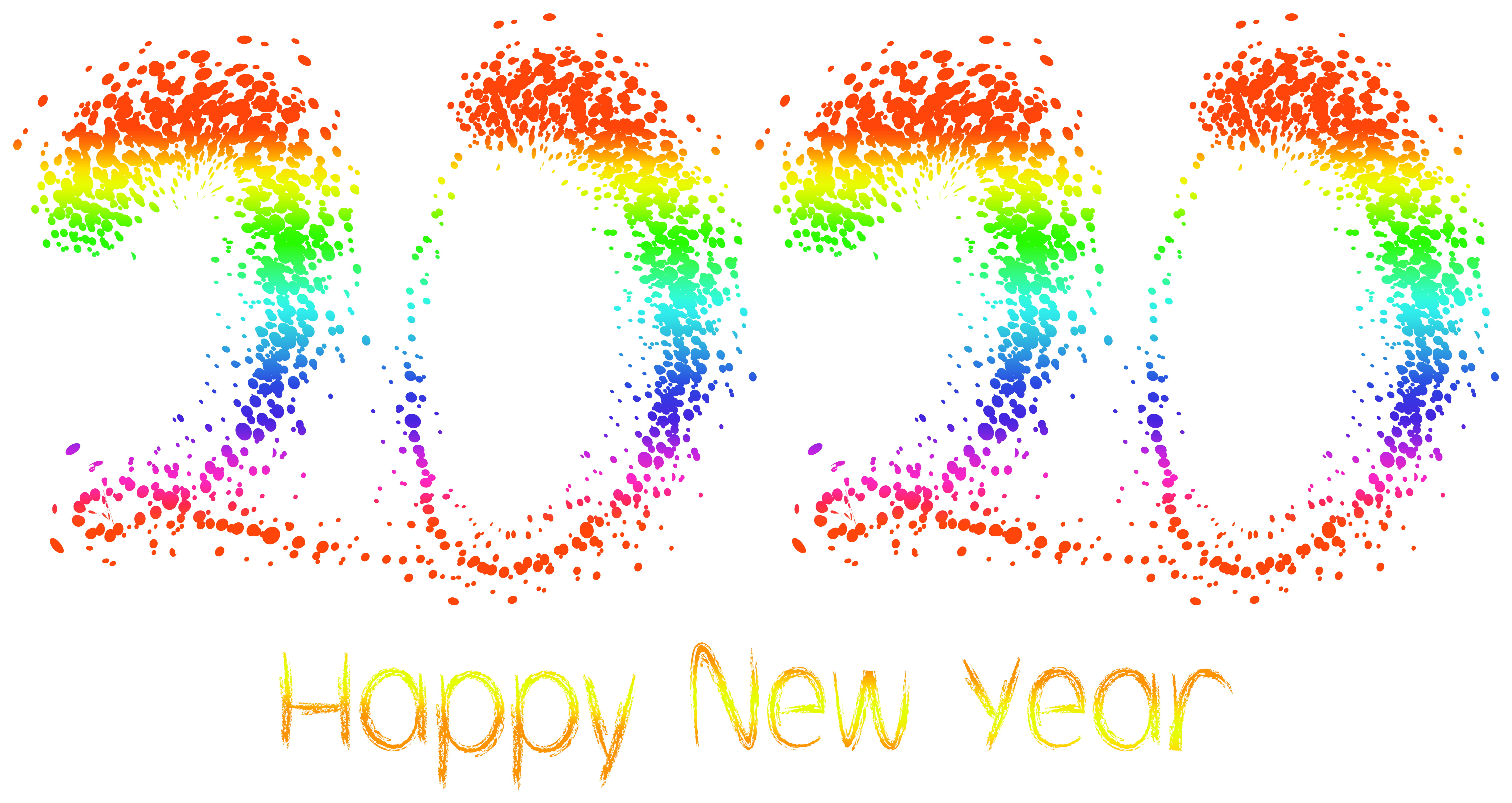 2020 Happy New Year PNG Clipart Image Gallery Yopriceville 8000x4250