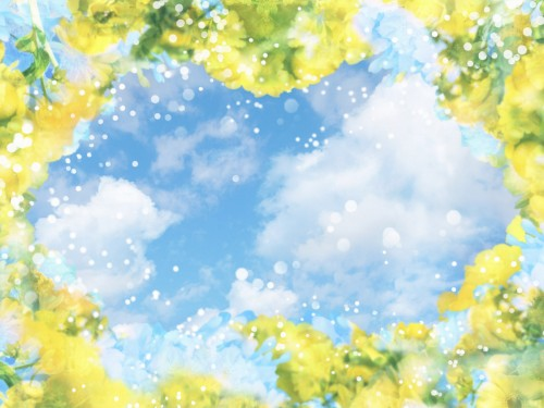 free flower art summer sky screensaver screensavers download flower 500x375