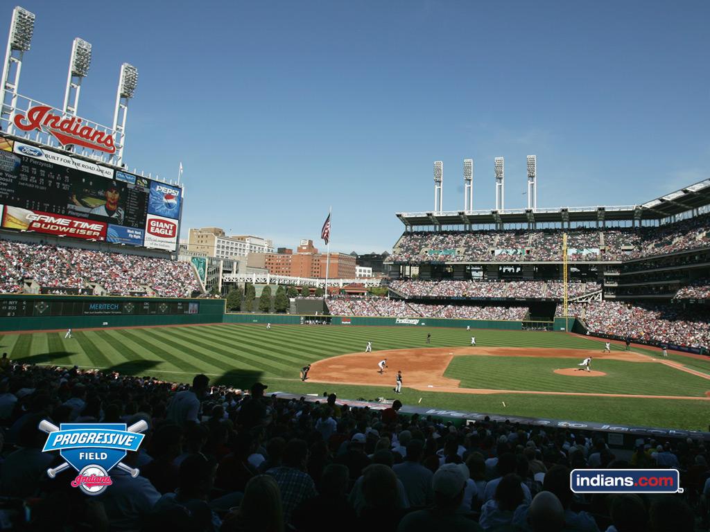 Download Cleveland Indians wallpaper Cleveland Indians Ballpark 1024x768