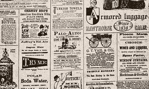 Vintage Newsprint Background Old newspaper texture 500x300