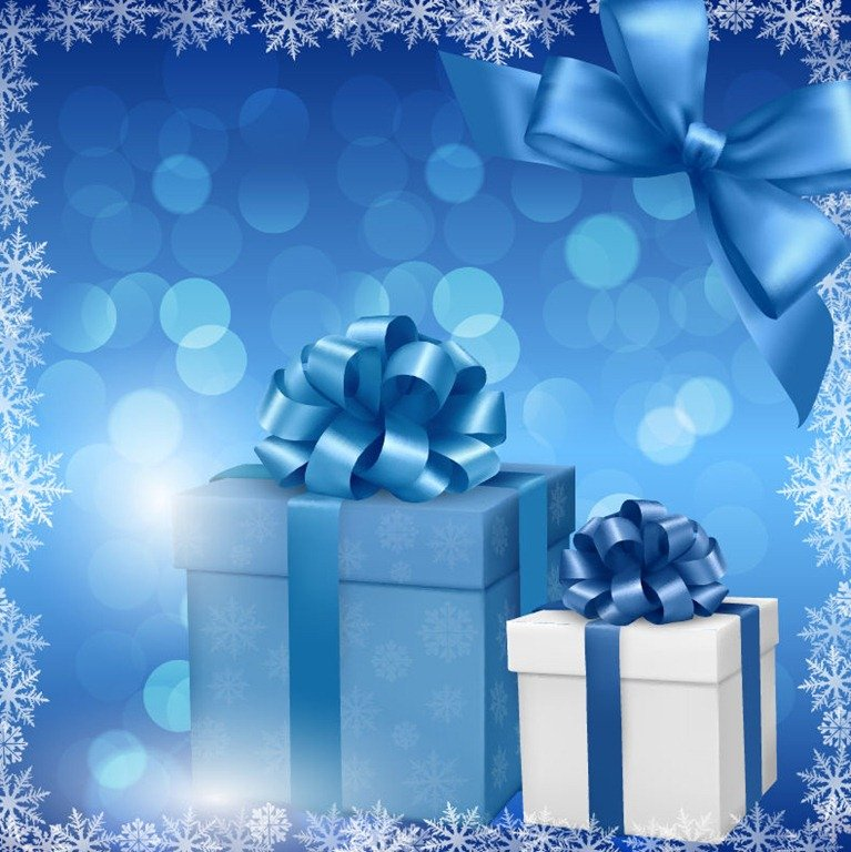 Christmas Gift Background: [68+] Blue Christmas Background On WallpaperSafari