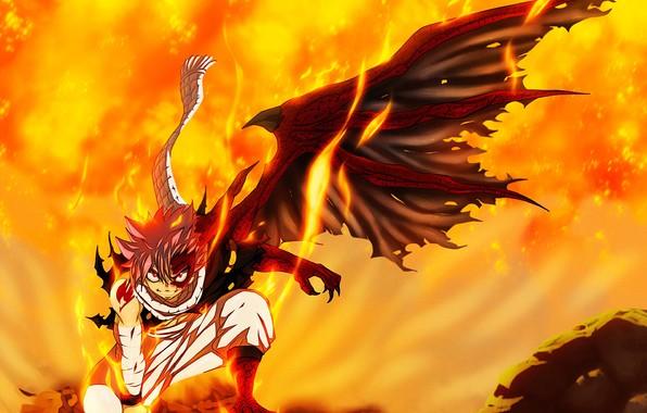 Wallpaper fairy tail natsu dragneel natsu dragonize by hyugasosby 596x380