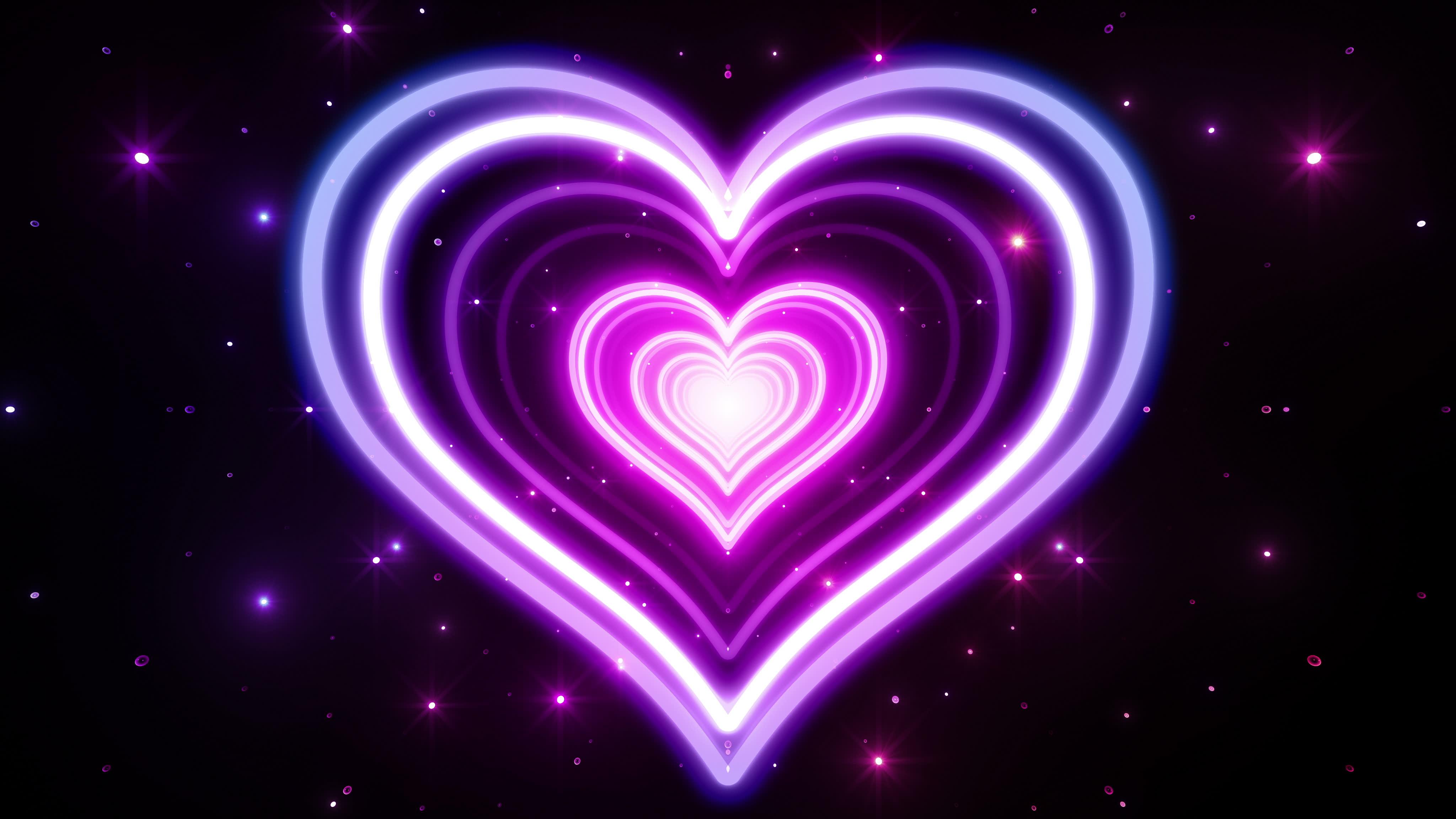 Hauptseite Abstrakt HD Hintergrundbilder schne neon heart 4096x2304