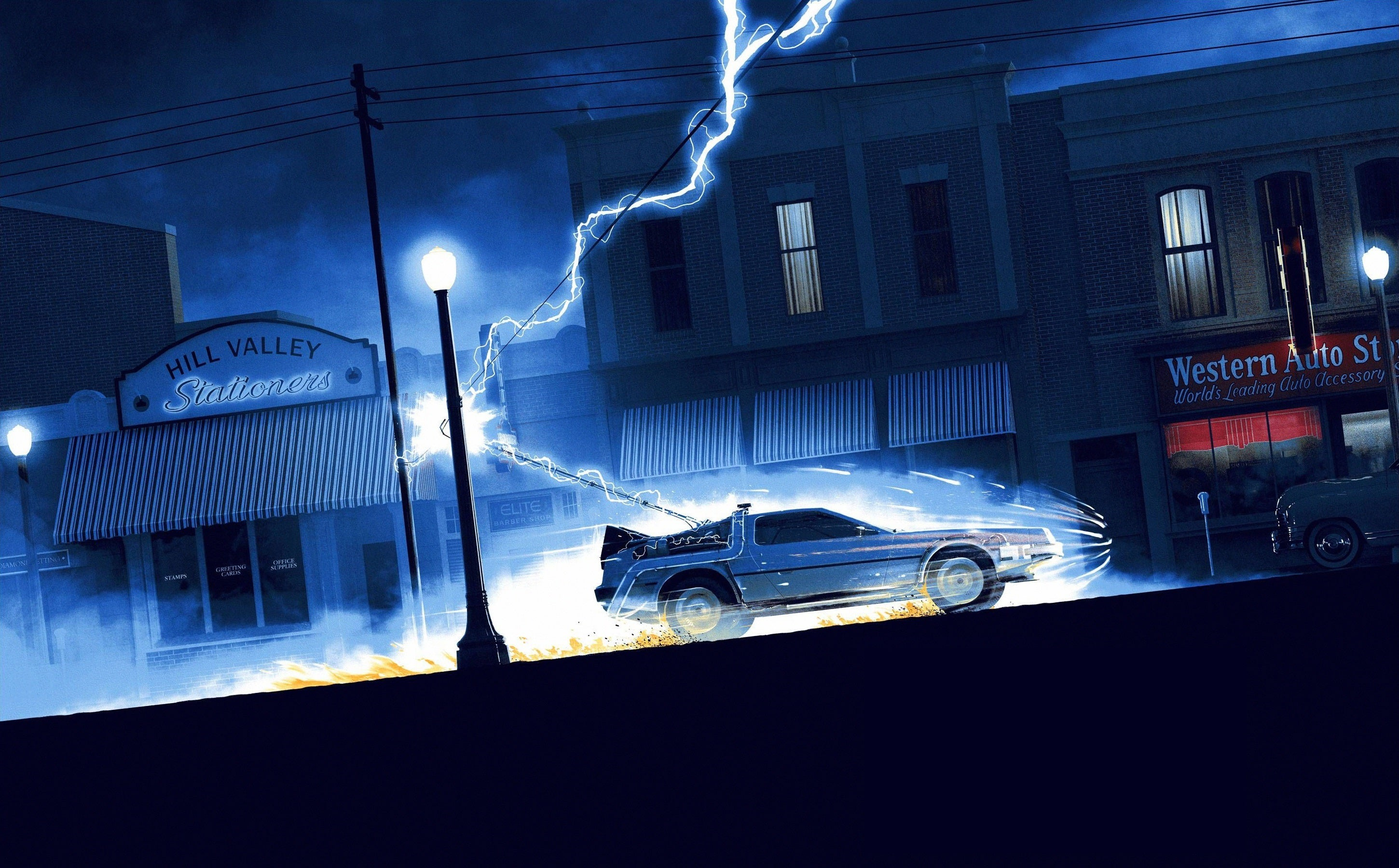 Back to the Future HD wallpaper 2900x1800