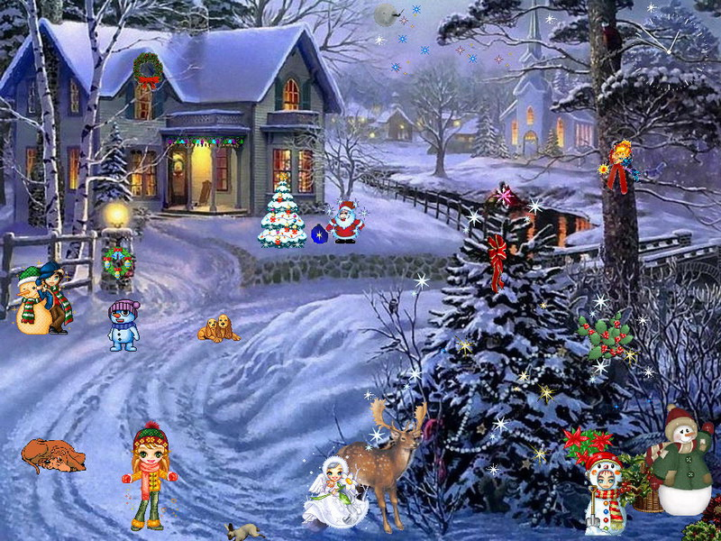 Christmas Screensavers With Music Great World 800x600