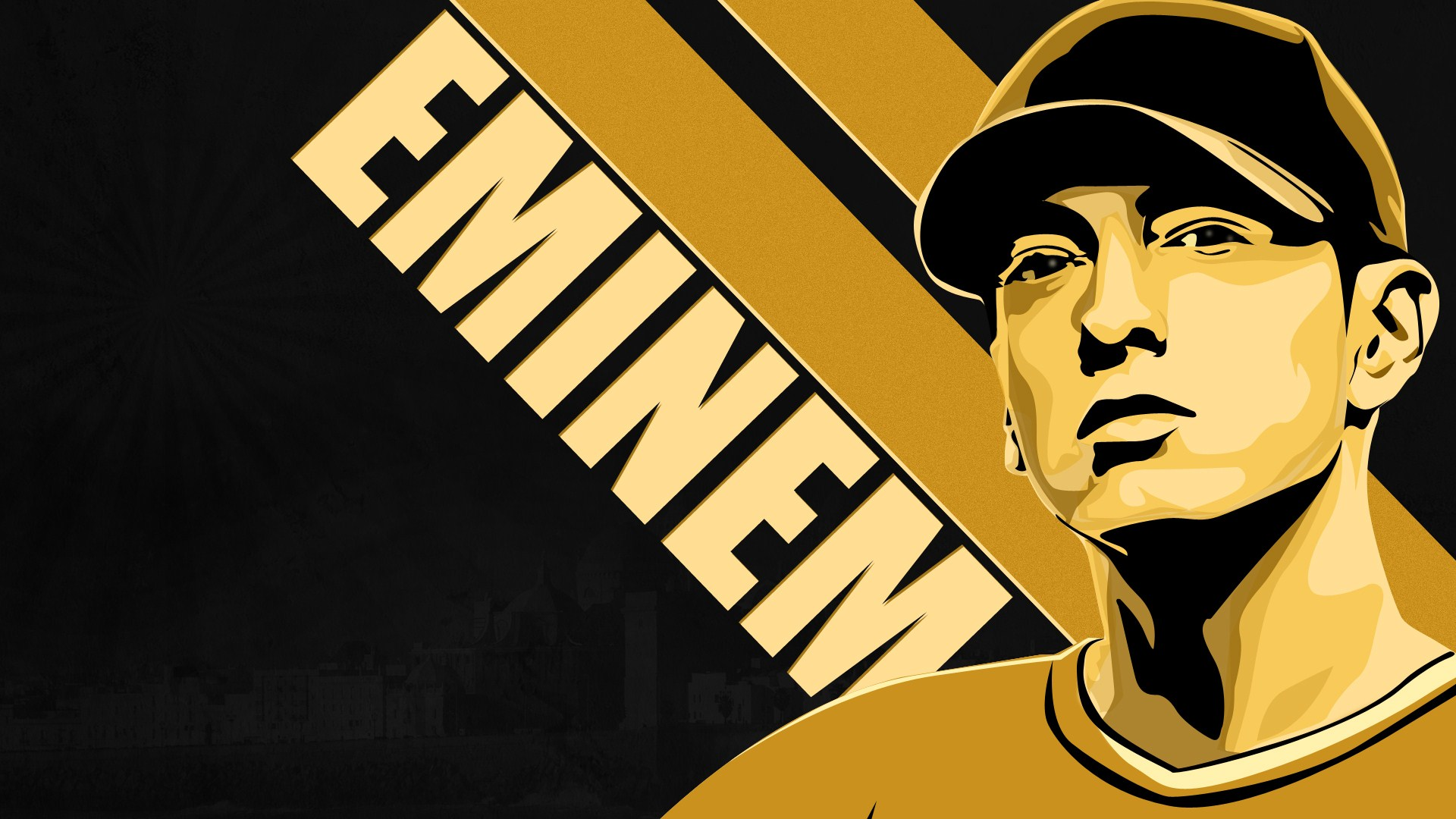 Eminem Cartooon Rap Wallpapers 1920x1080