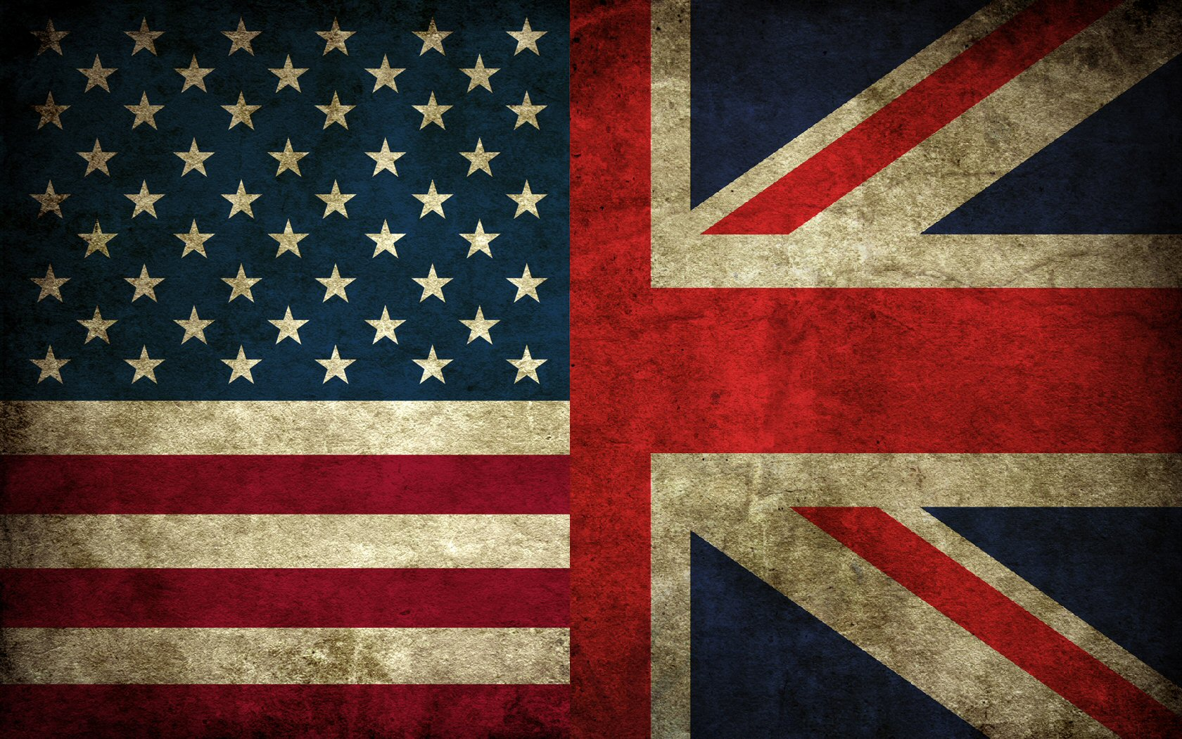 USA Union Jack flags Britain Wallpapers 1680x1050