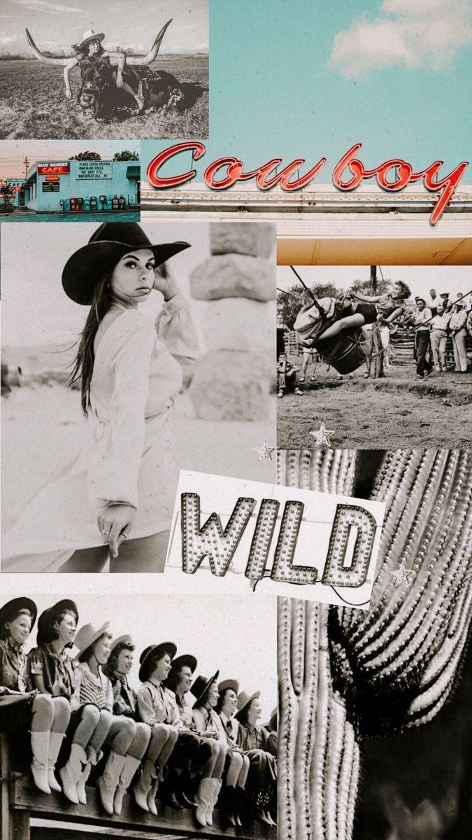 Wild western women Western wall art Picture collage wall Art 675x1200