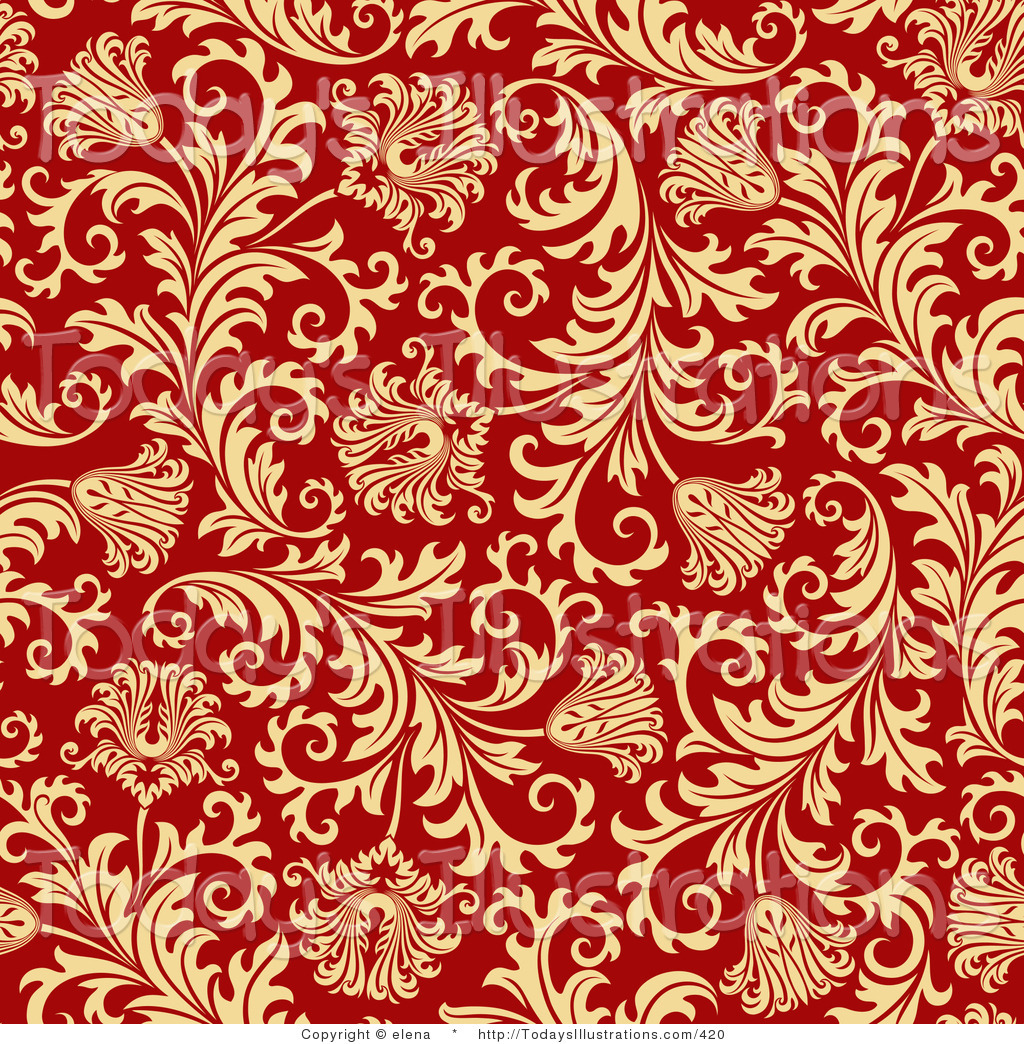 Red and gold wallpaper wallpapersafari for Gold wallpaper designs