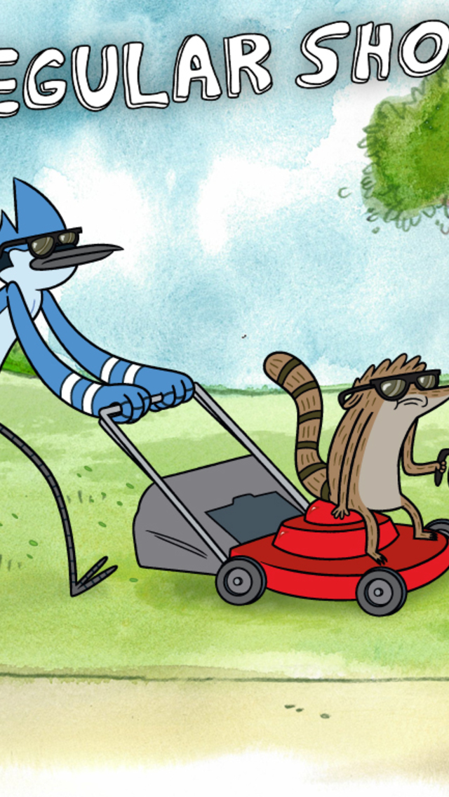 Mordecai And Rigby Regular Show Wallpaper For IPhone 5 640x1136