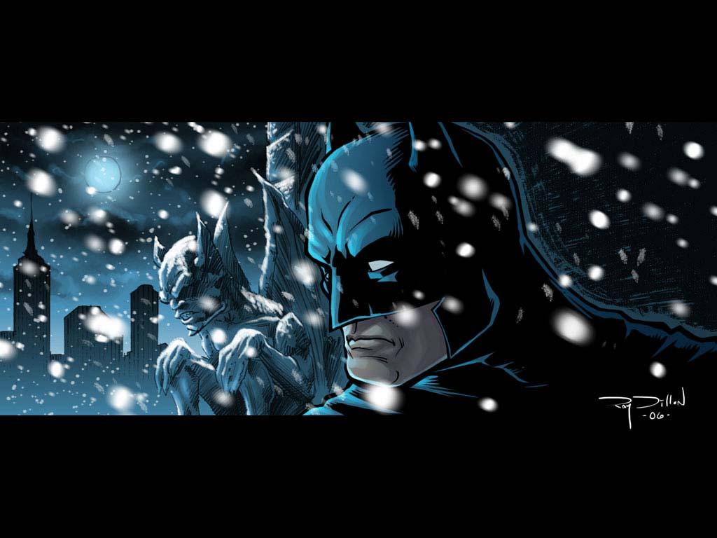 Snowy Batman Wallpaper   Batman Wallpaper   Cartoon Watcher 1024x768
