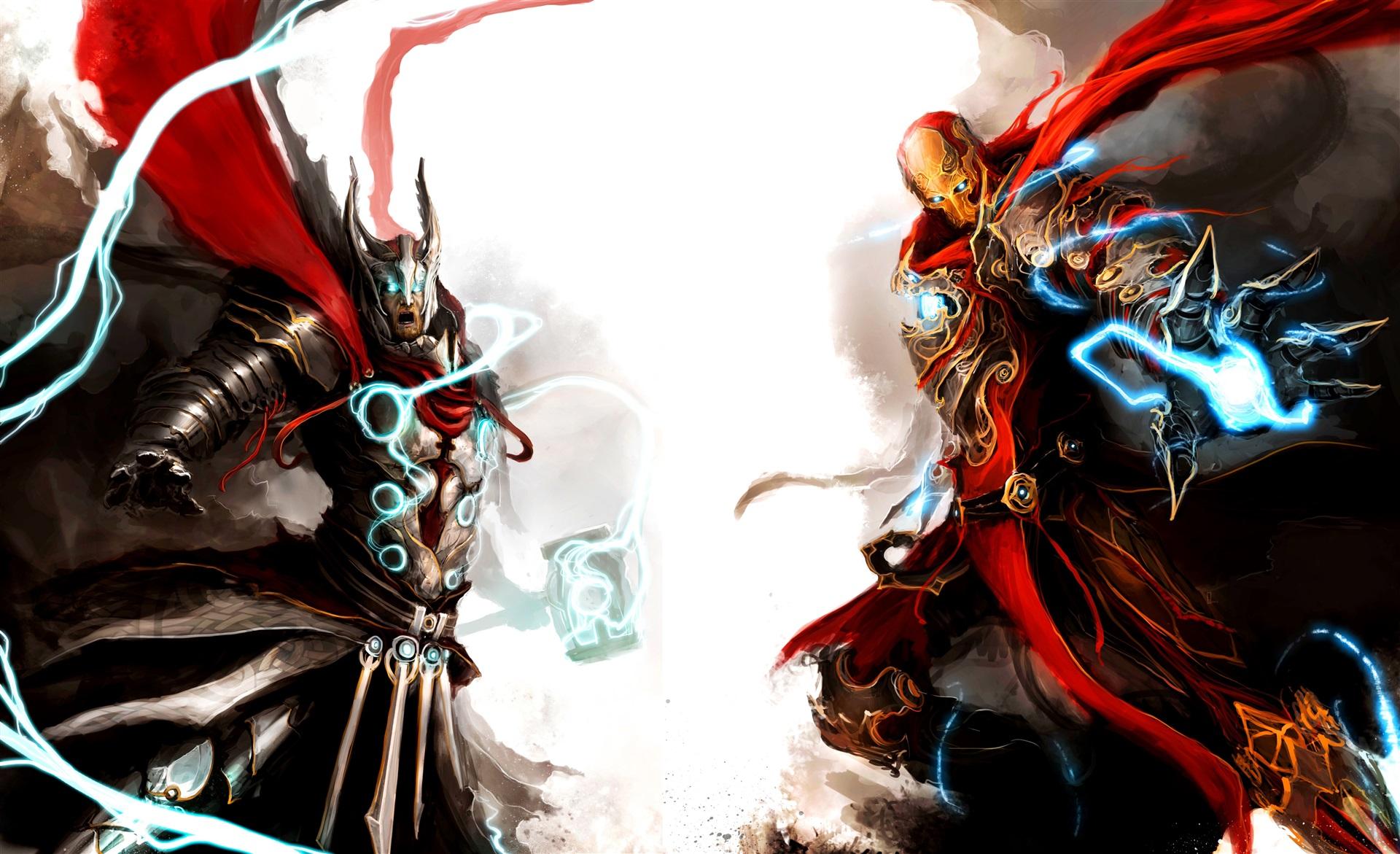4K wallpaper   Fantasy   iron man marvel Avengers Thor torus 1920x1171