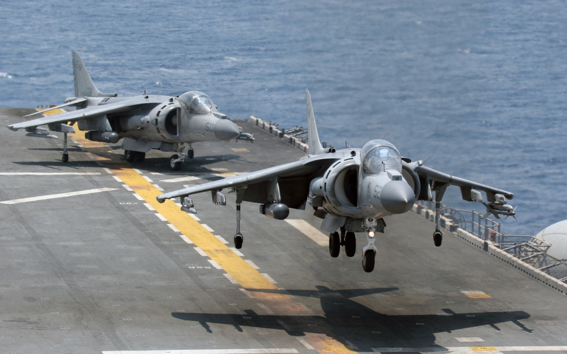 Harrier Wallpaper the united states off the deck the aircraft carrier 1920x1200