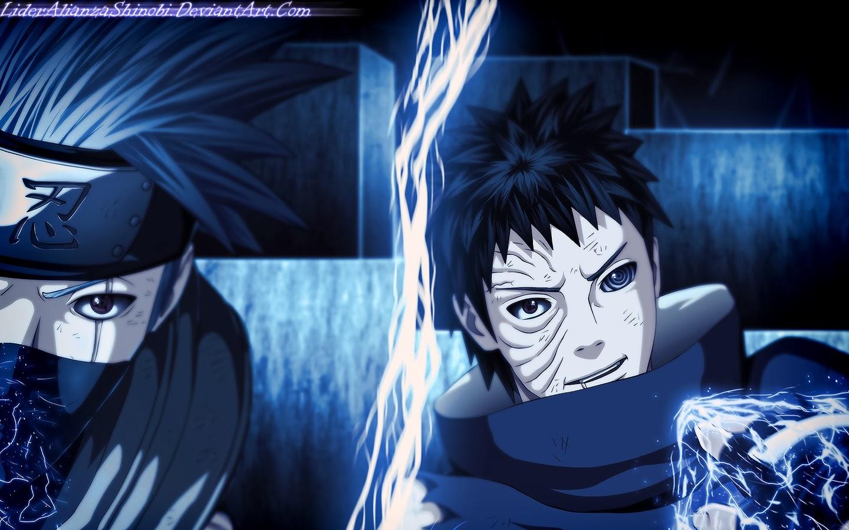 kakashi raikiri vs obito uchiha fighting hd wallpaper 1440x900 7m 1440x900