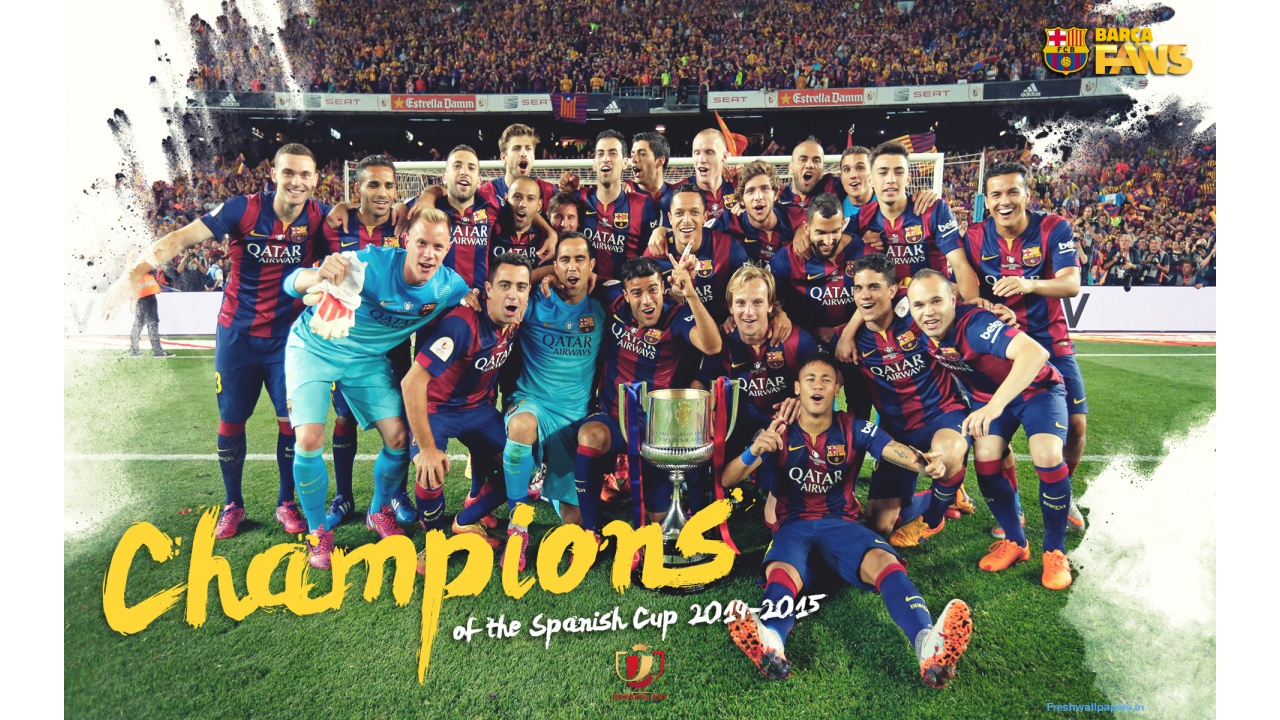FC Barcelona 2015 Champions League Winners wallpapers 1280x720