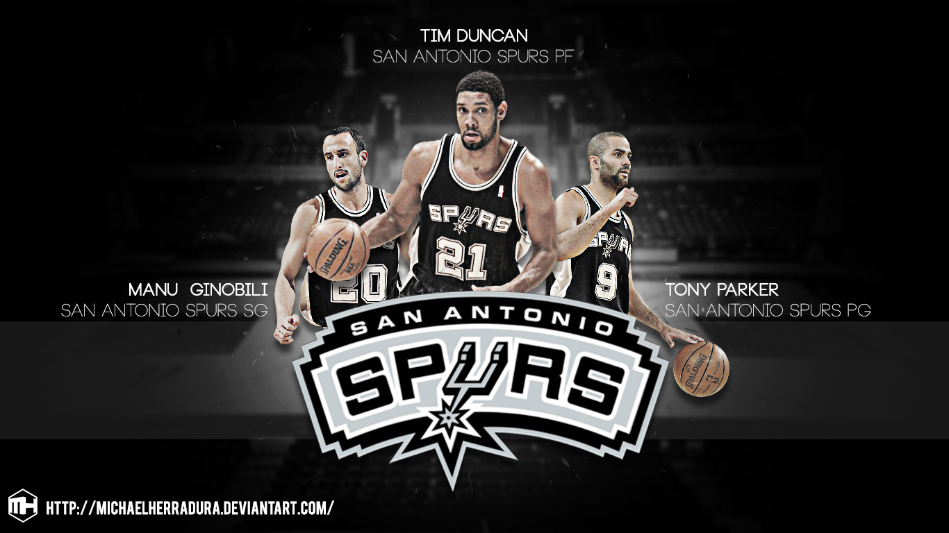 Spurs Wallpaper Spurs big 3 wallpaper by 1366x768