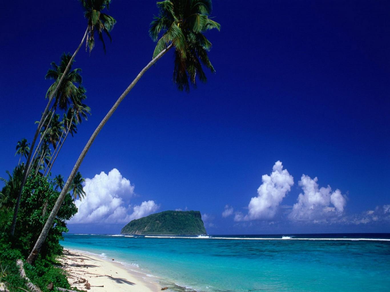 Playa Lalomanu de Samoa 1280x1024 Paisajes imgenes para fondos 1366x1024