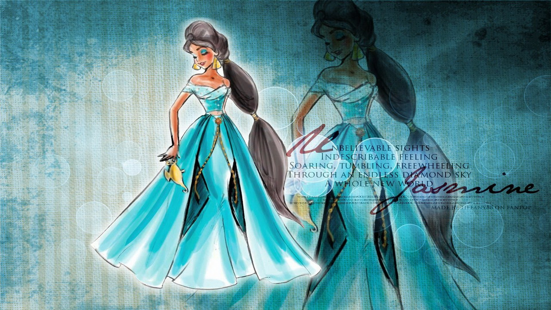 Walt Disney Princess Jasmine HD Wallpaper of Cartoon   hdwallpaper2013 1920x1080