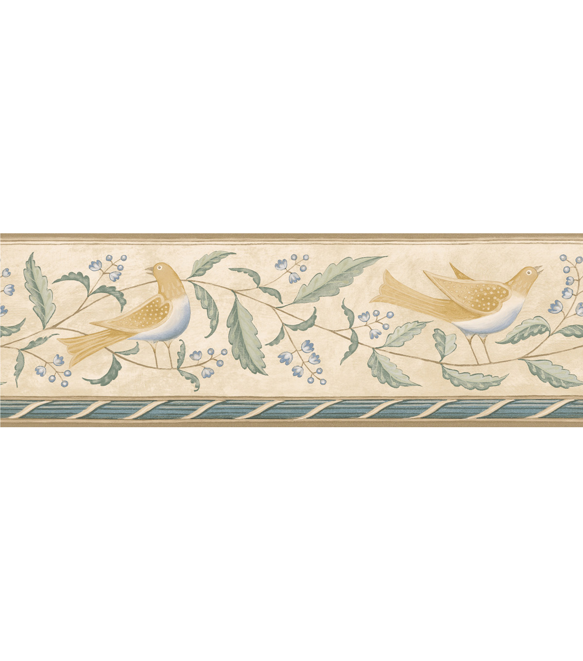 Bird Wallpaper Border CreamFolk Art Floral Bird Wallpaper Border 1200x1360
