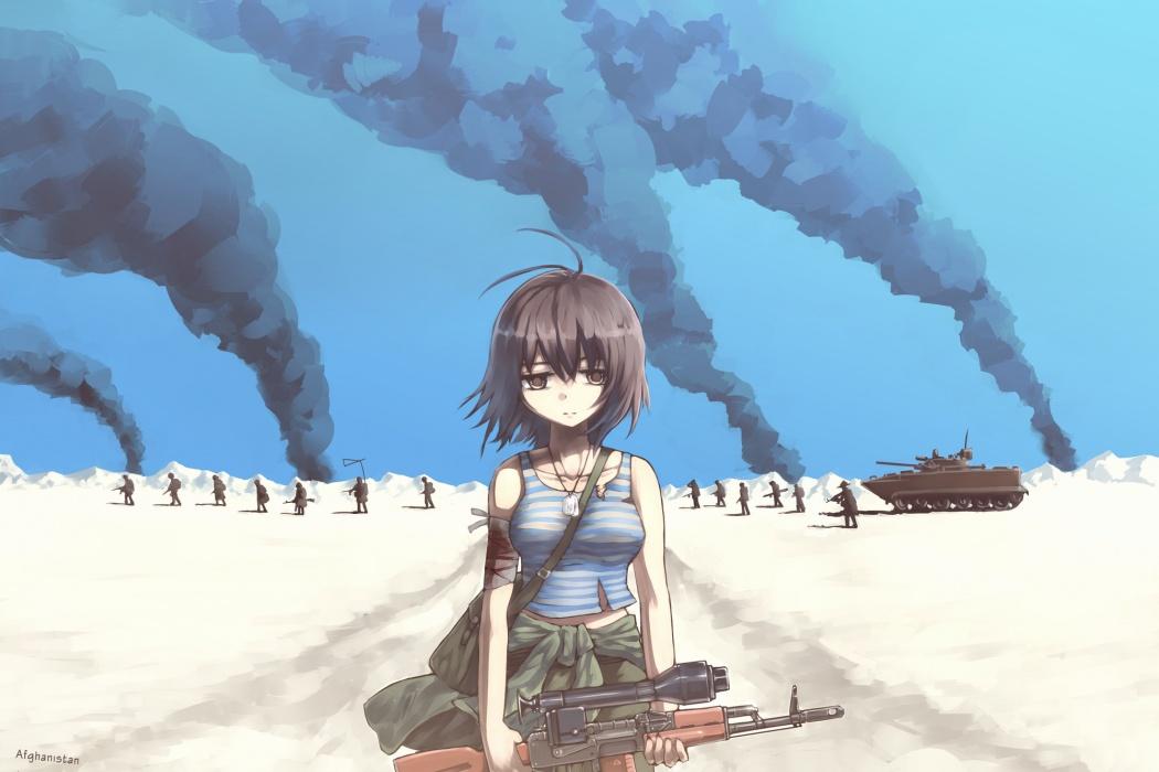 Animated Girl Soldier Wallpaper wallpaper | Best HD Wallpapers