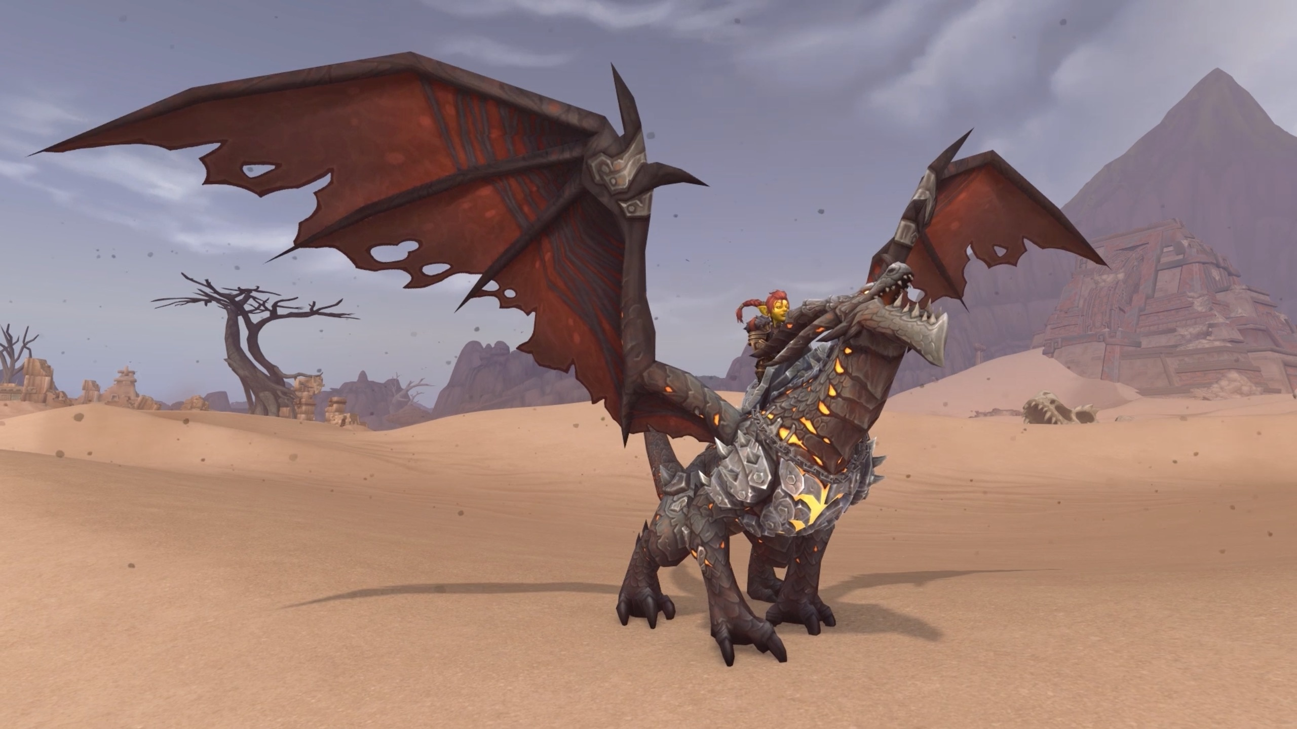 Warcrafts 15th Anniversary Celebration Ragnaros Statue Obsidian 2560x1440