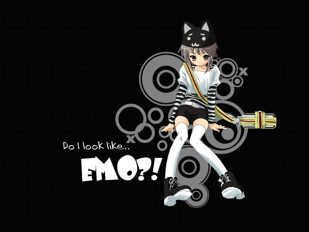 Gallery For gt Cute Emo Cartoon Wallpaper 1024x768