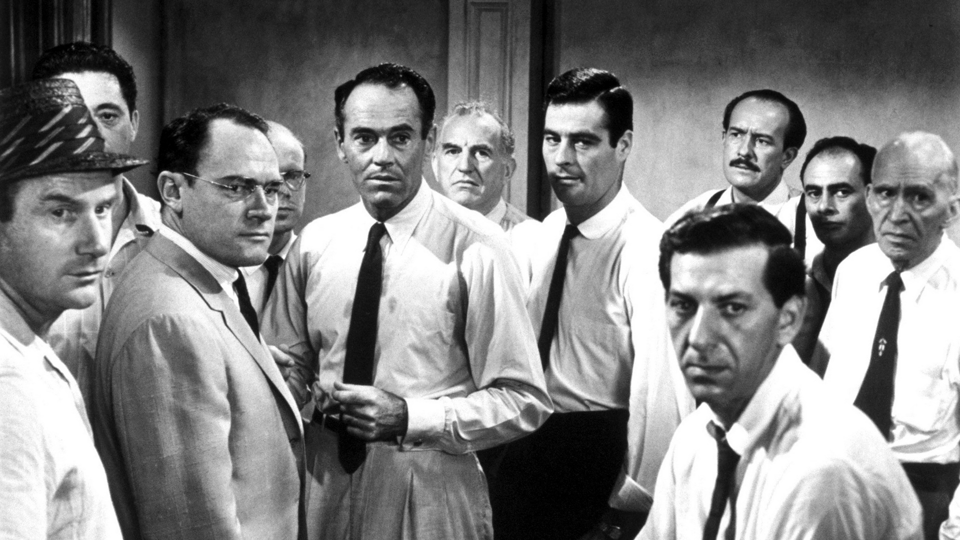 Download wallpaper 1920x1080 12 angry men men actors black 1920x1080