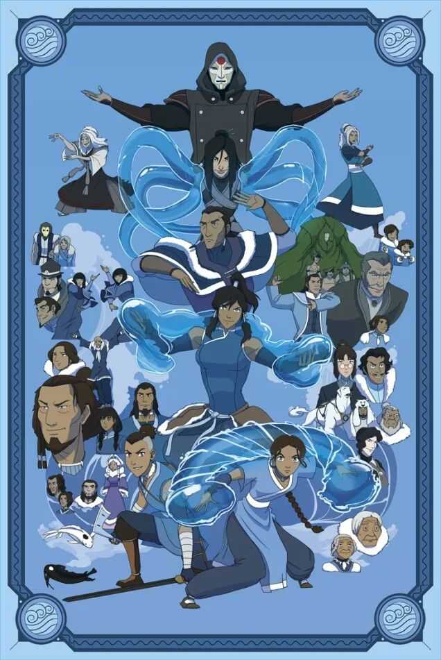 Waterbenders Matres de leau Elements ATLA   LOK Avatar 636x951