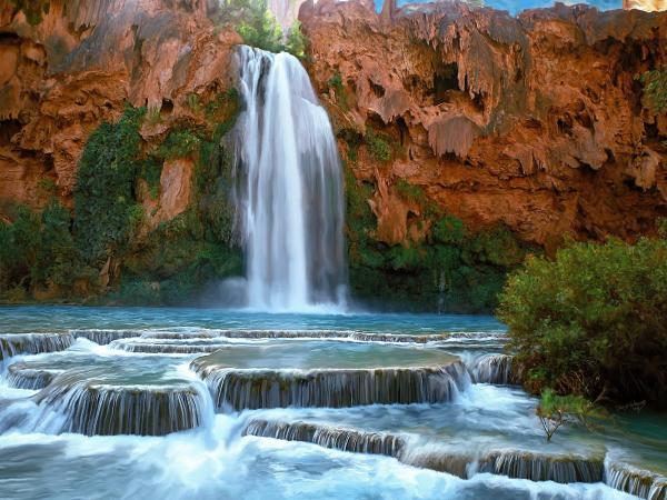 havasu falls havasu falls is the second waterfall in the canyon and it 600x450