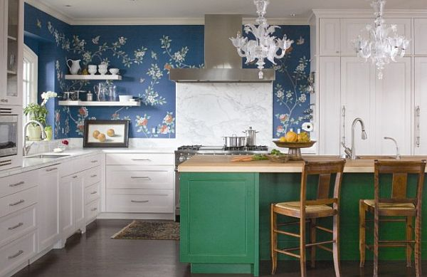 Kitchen wallpaper ideas we love 600x389