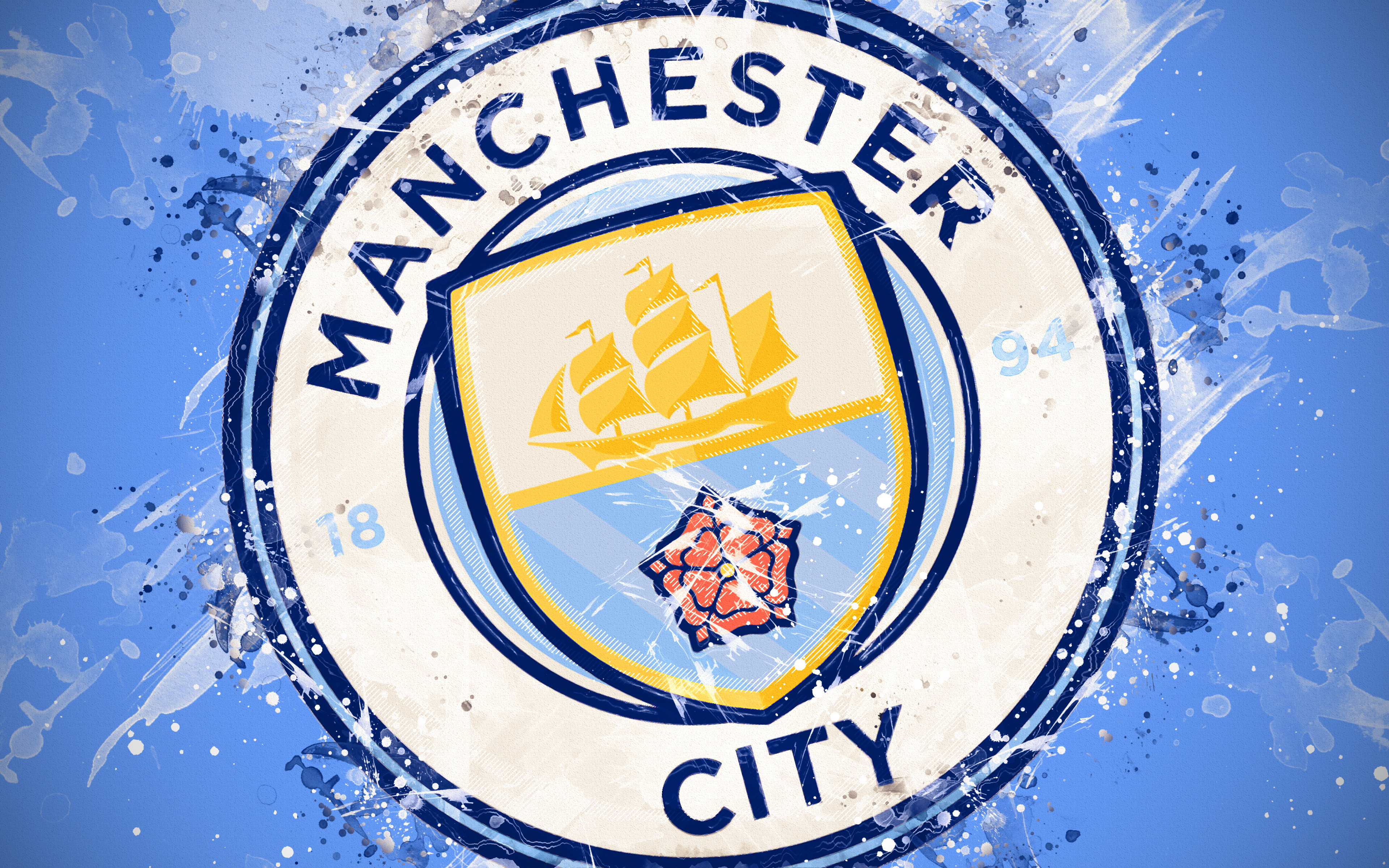 Free Download Manchester City Logo 4k Ultra Hd Wallpaper Background Image 3840x2400 For Your Desktop Mobile Tablet Explore 21 Manchester City Logos Wallpapers Manchester City Logos Wallpapers Manchester City