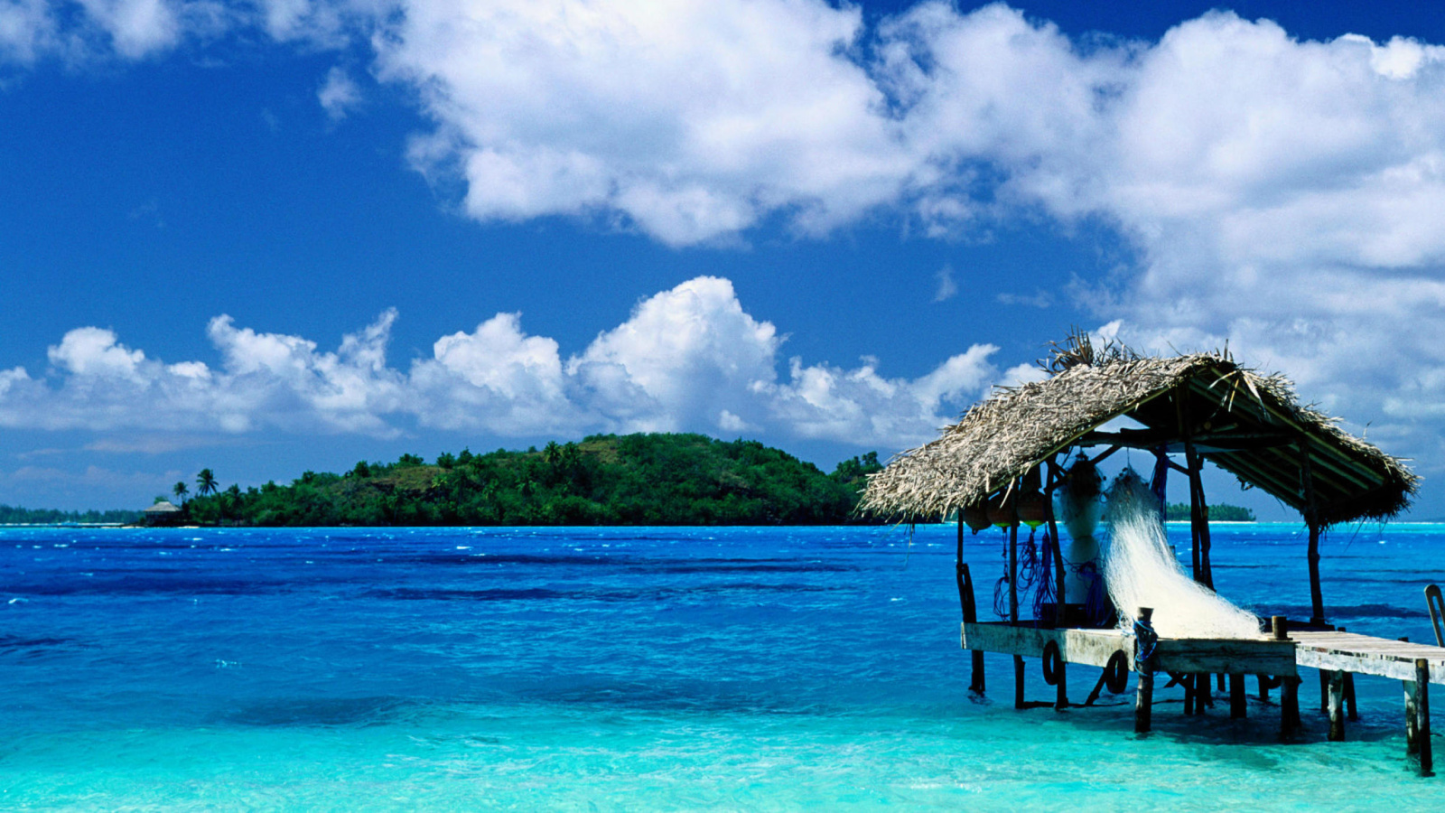 bora bora beach wallpaper snapshot thatched hut bora bora french 1600x900
